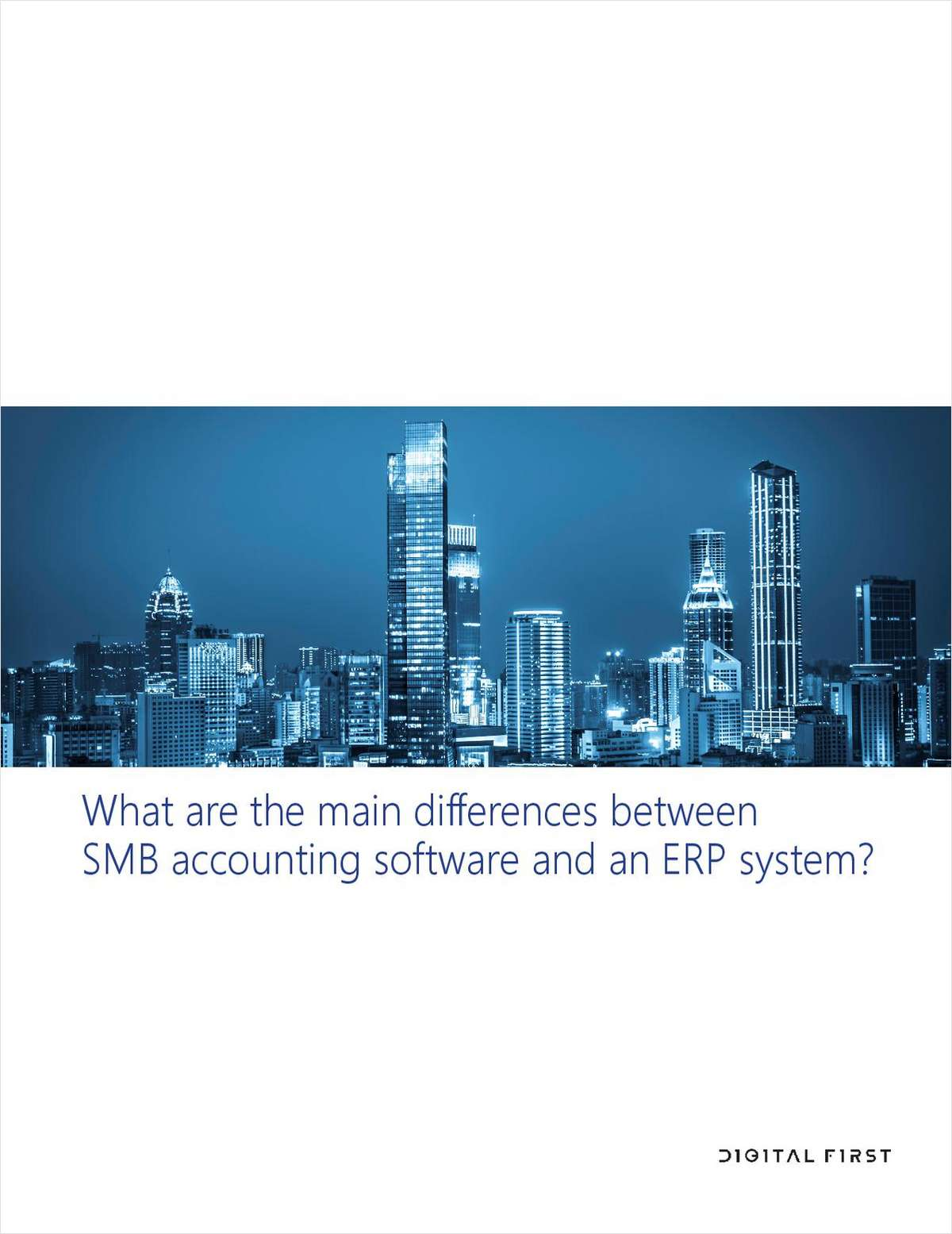 What Are The Main Differences Between SMB Accounting Software and an ERP System?