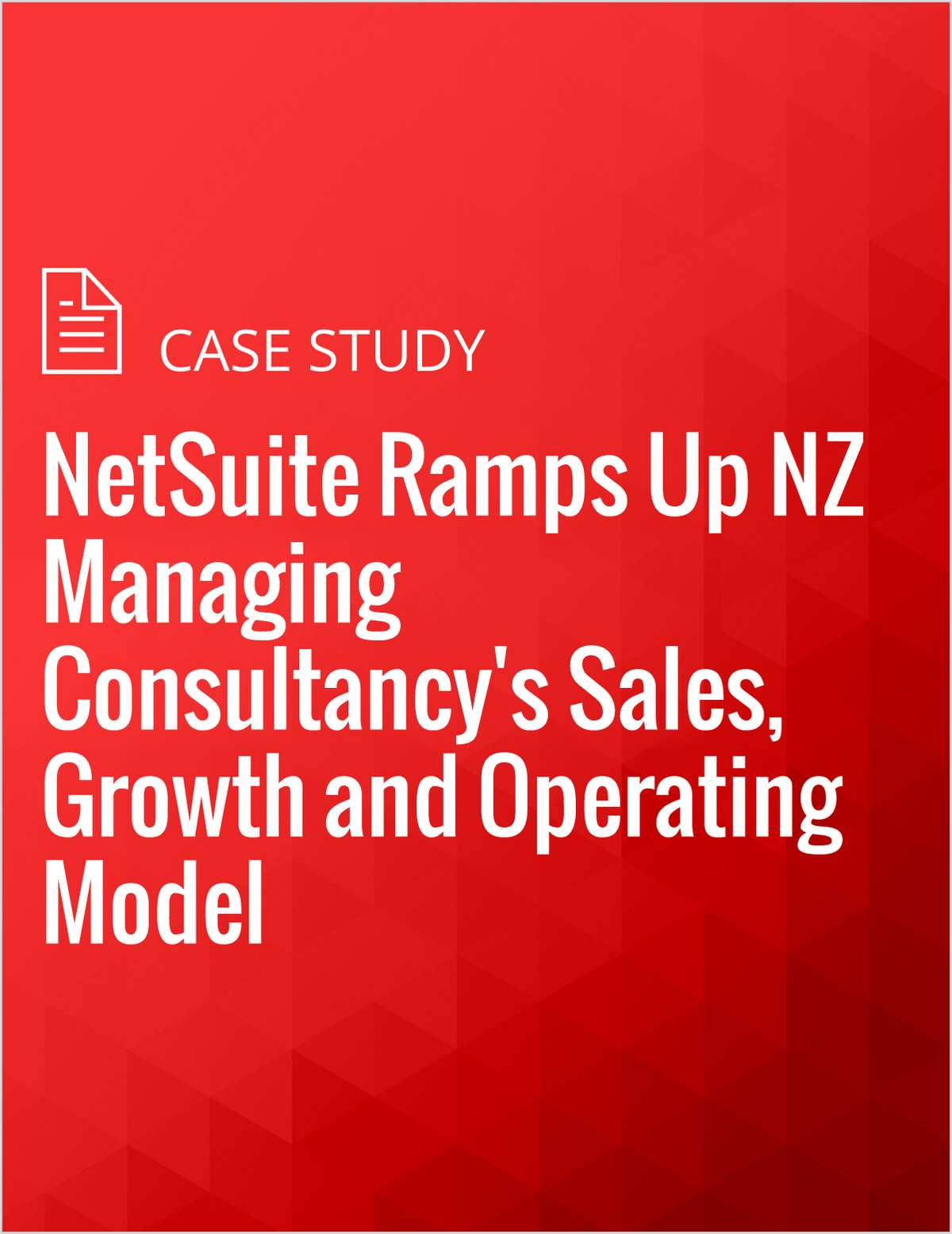 NetSuite Ramps Up NZ Managing Consultancy's Sales, Growth and Operating Model