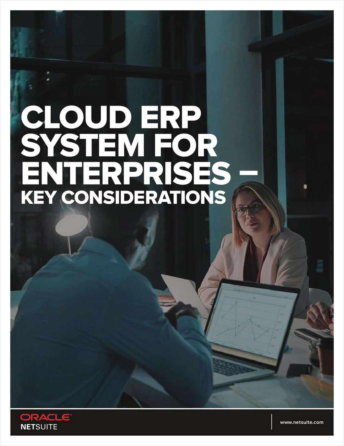 Cloud ERP System for Enterprises - Key Considerations