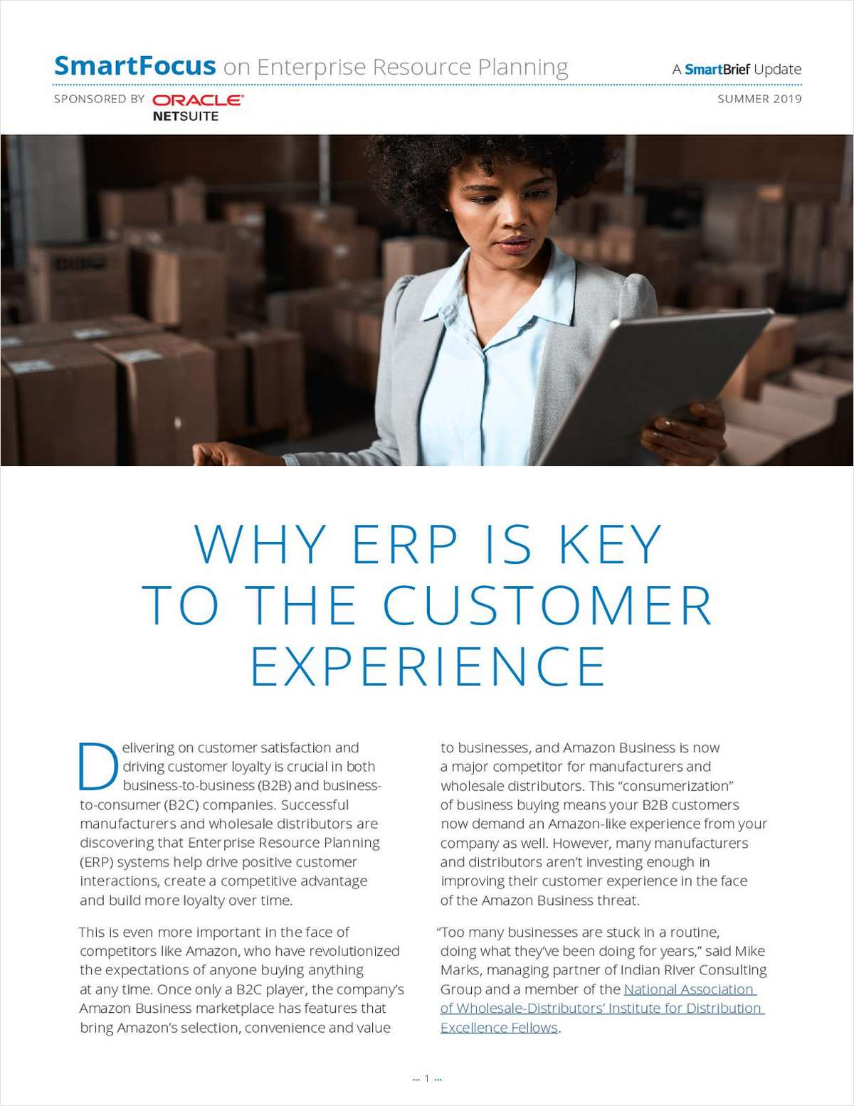 Why ERP is Key to Customer Experience