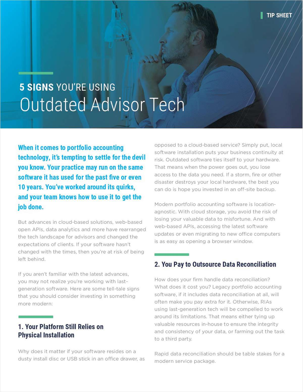5 Signs You're Using Outdated Advisor Tools