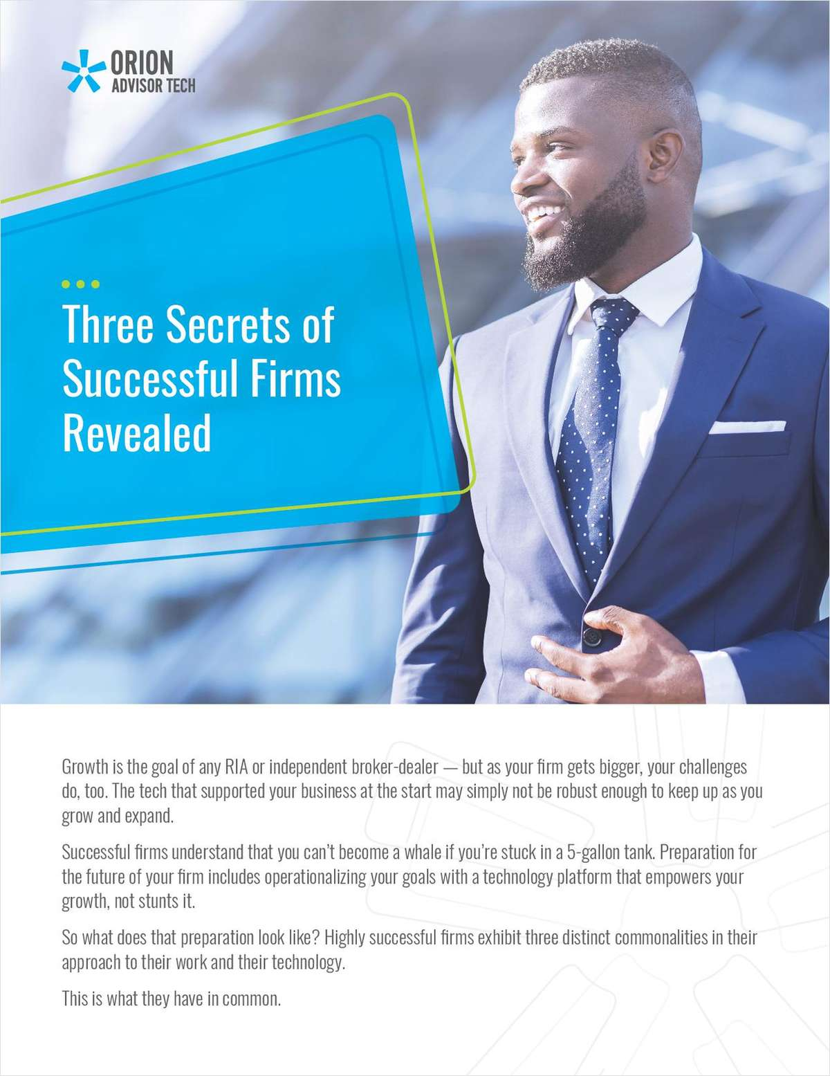 Three Secrets of Successful Firms Revealed