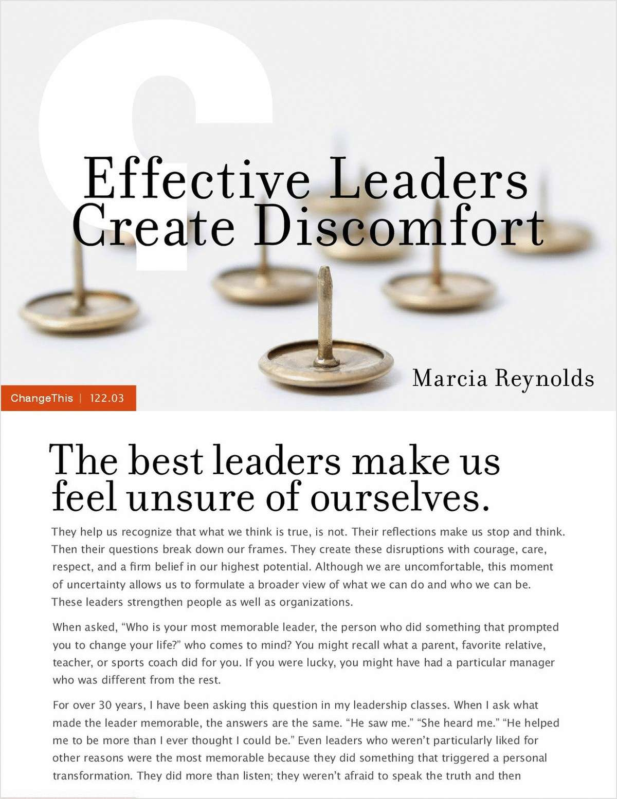 Effective Leaders Create Discomfort