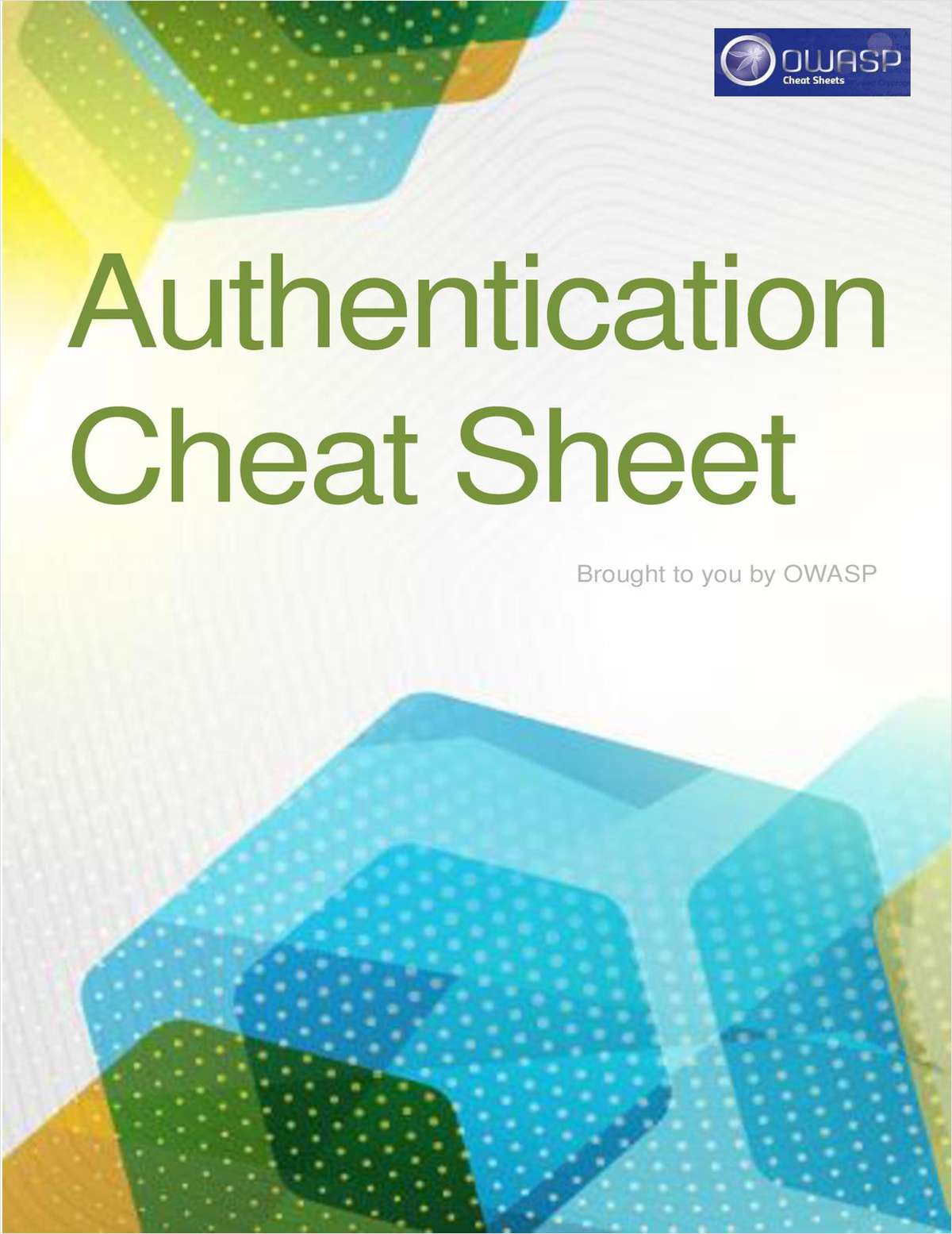 Authentication Cheat Sheet