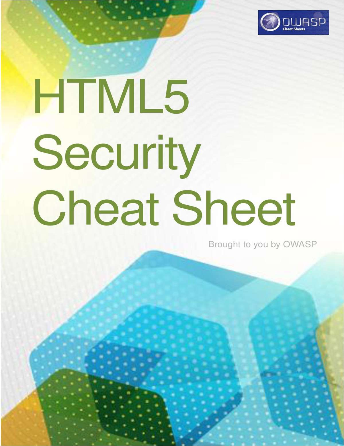 HTML5 Security Cheat Sheet