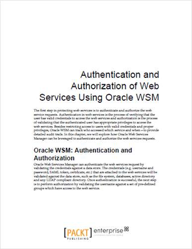 Oracle Web Services Manager: Authentication and Authorization