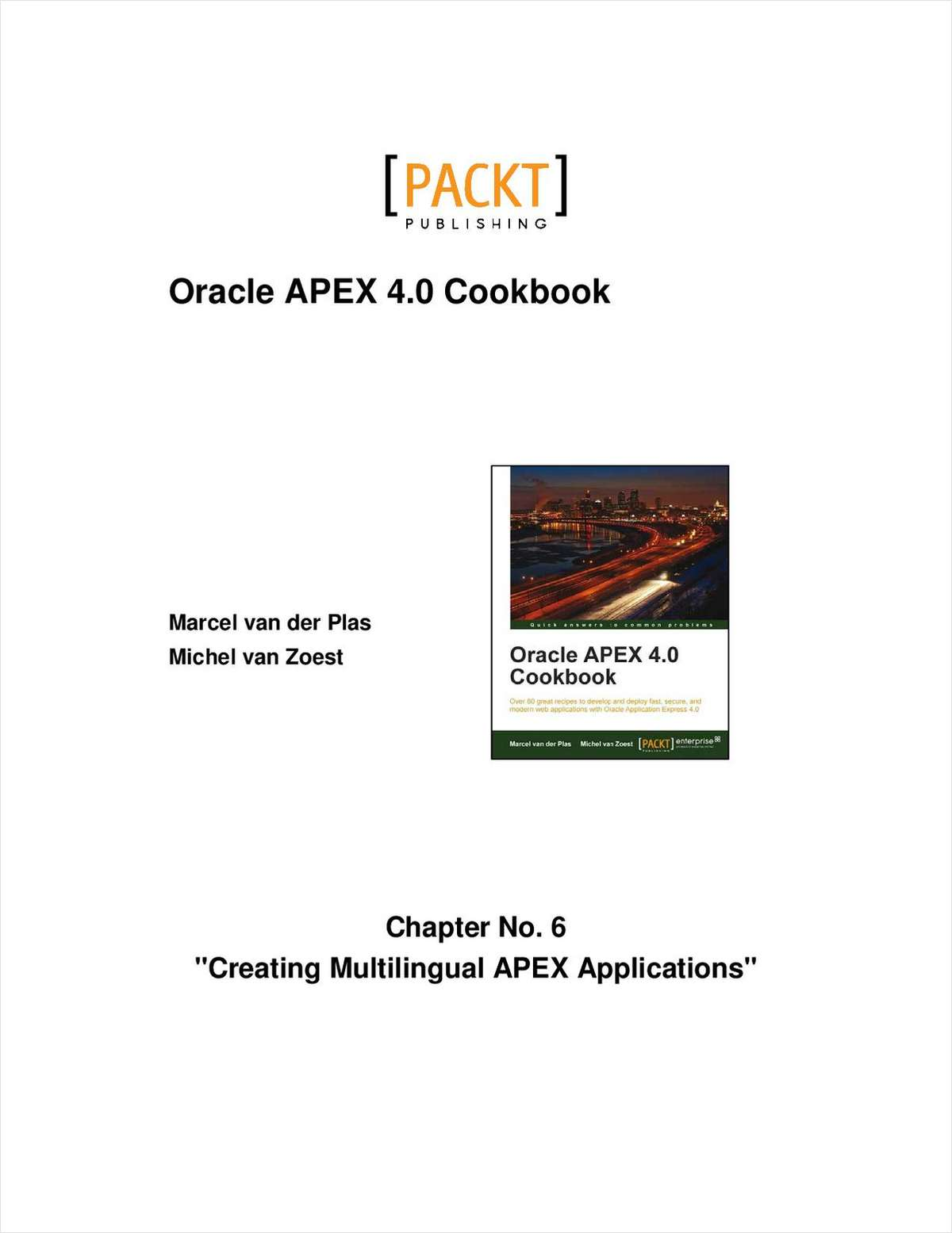 Creating Multilingual APEX Applications -- Free 24 Page Chapter