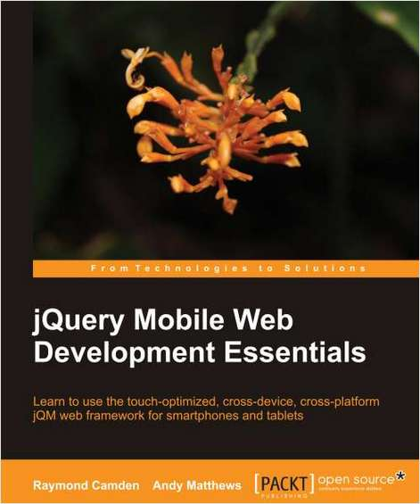 jQuery Mobile Web Development Essentials--Free 25 Page Excerpt