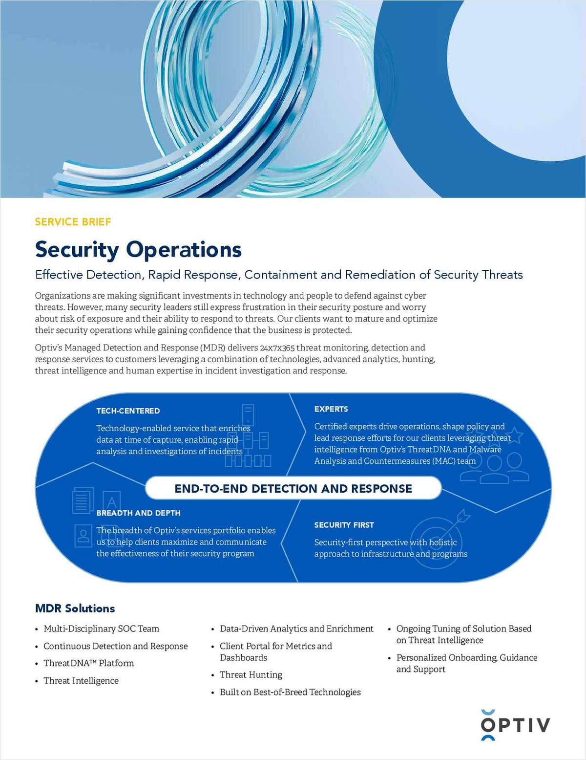 Service Brief: Security Operations