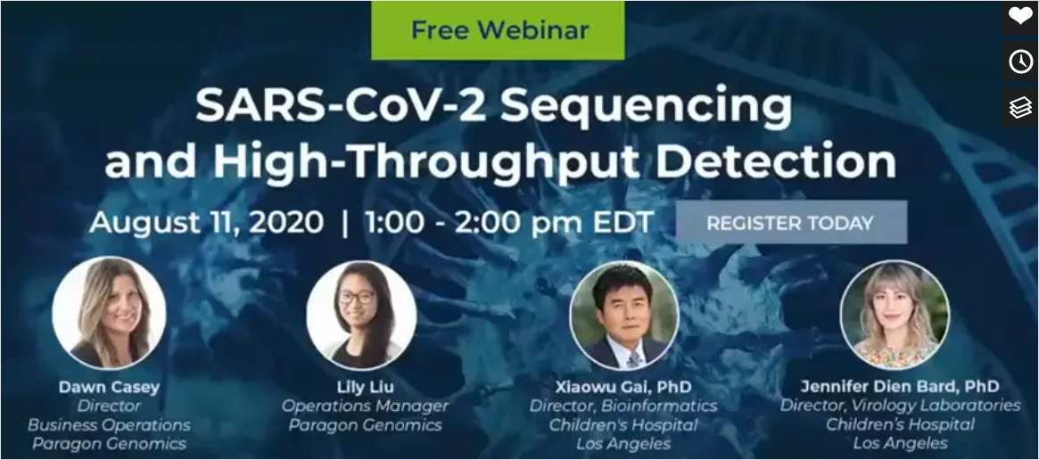 SARS-CoV-2 Sequencing and High-Throughput Detection