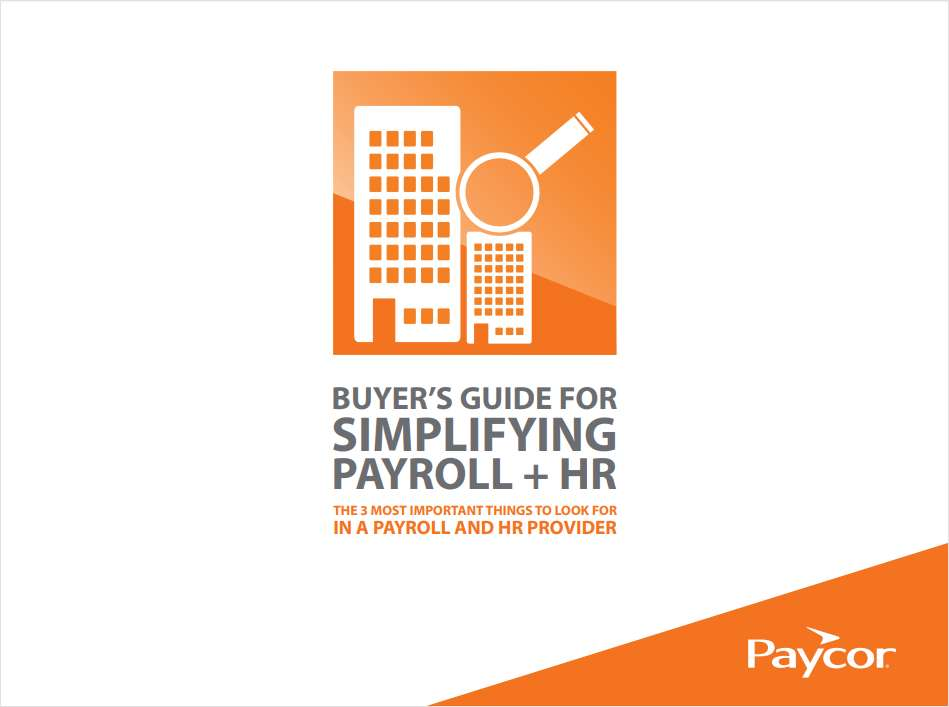 Buyer's Guide for Simplifying HR and Payroll