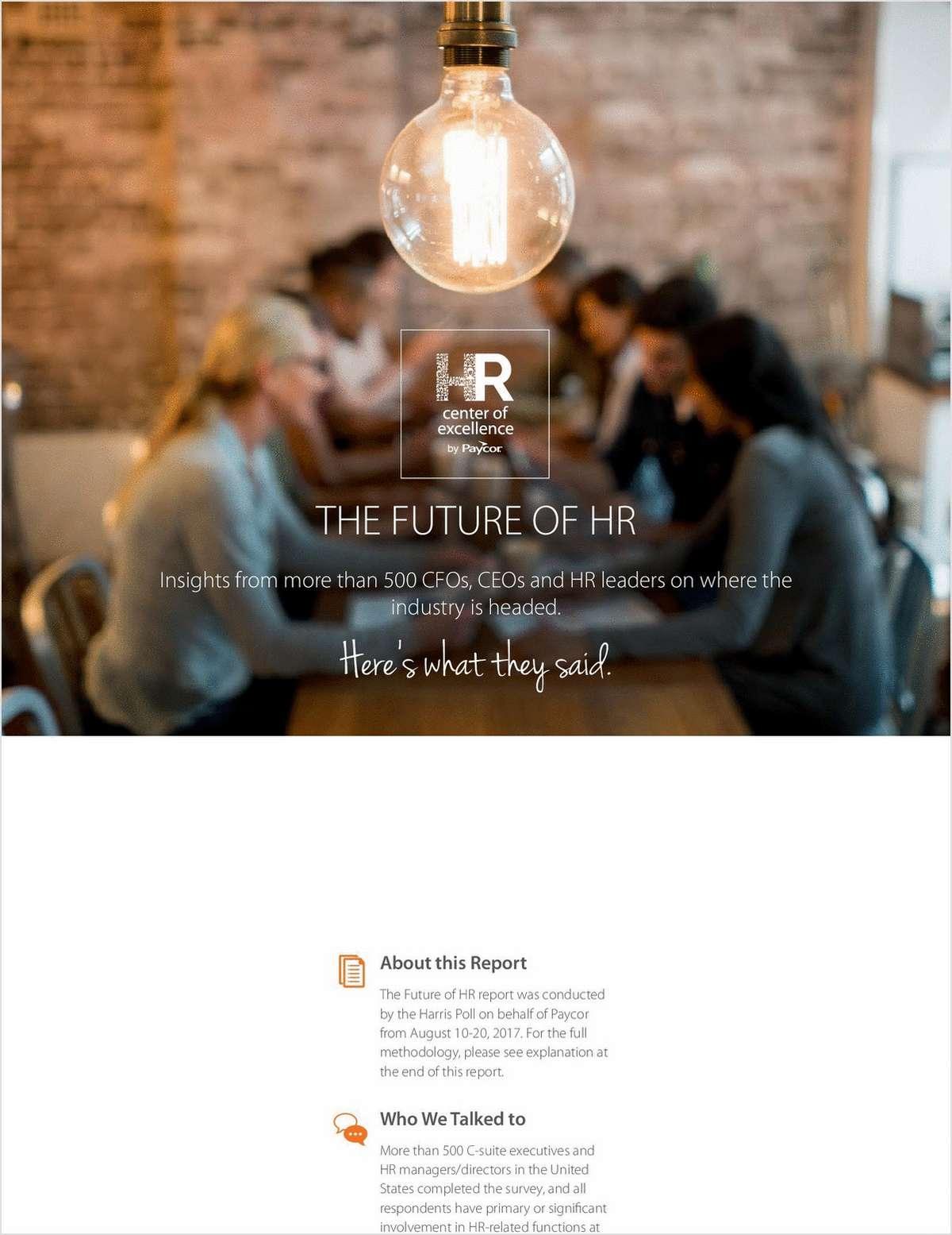 2019 Future of HR Report