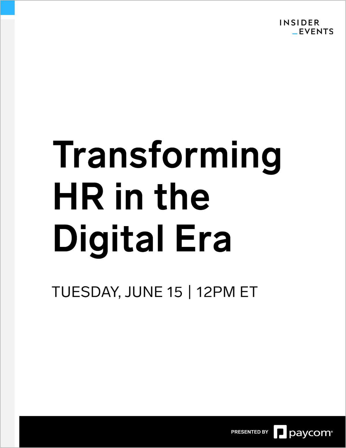 Transforming HR in the Digital Era