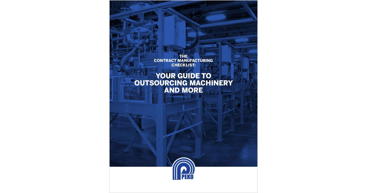 The Contract Manufacturing Checklist: Your Guide to