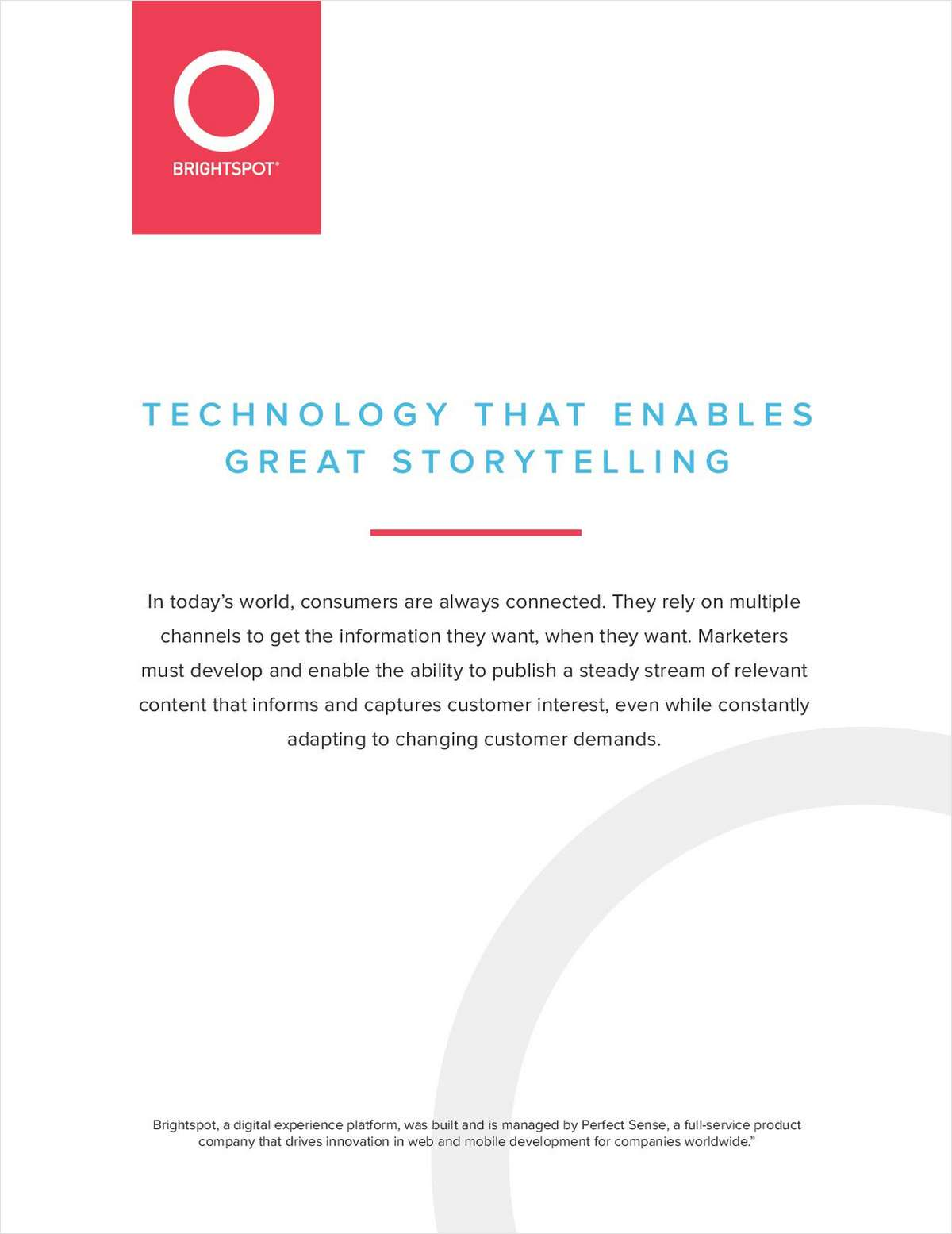 Technology that Enables Great Storytelling