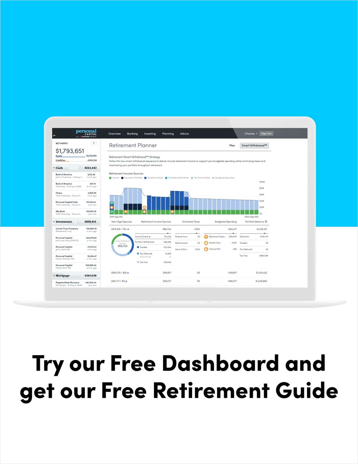 See if You're on Track with our FREE Retirement Planner™ & Dashboard