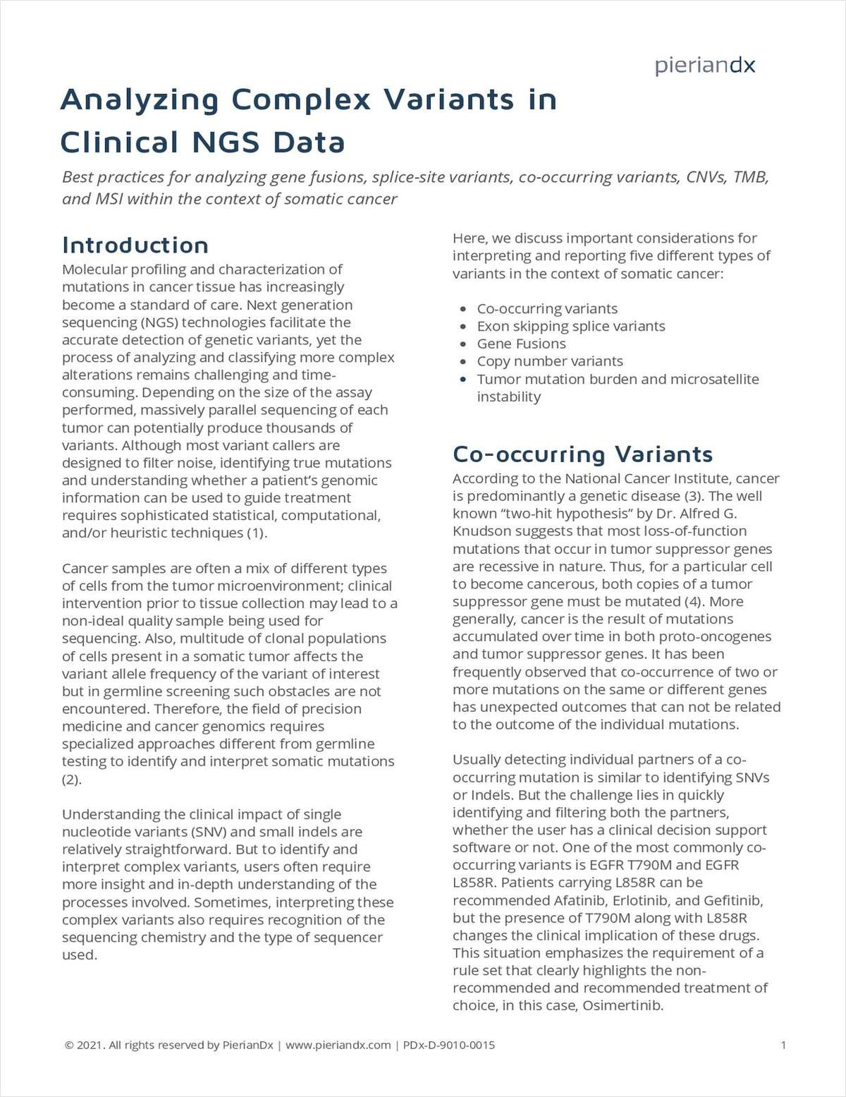 Analyzing Complex Variants in Clinical NGS Data