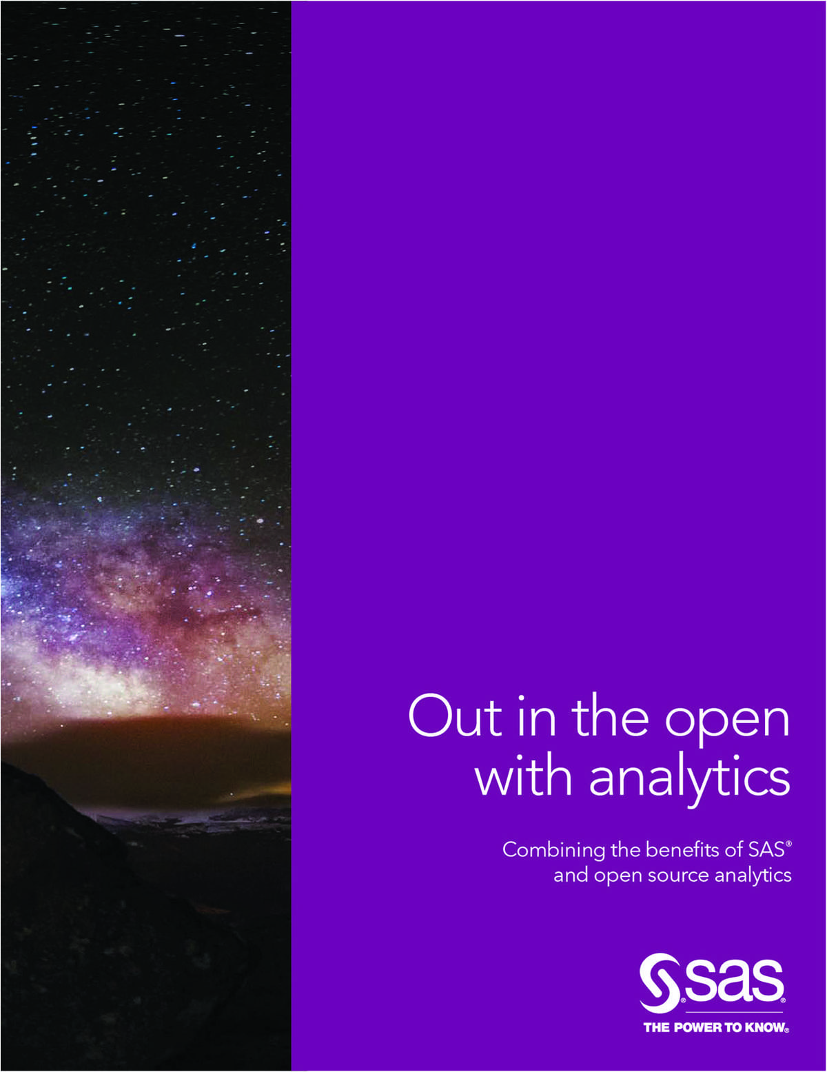 Out In The Open With Analytics