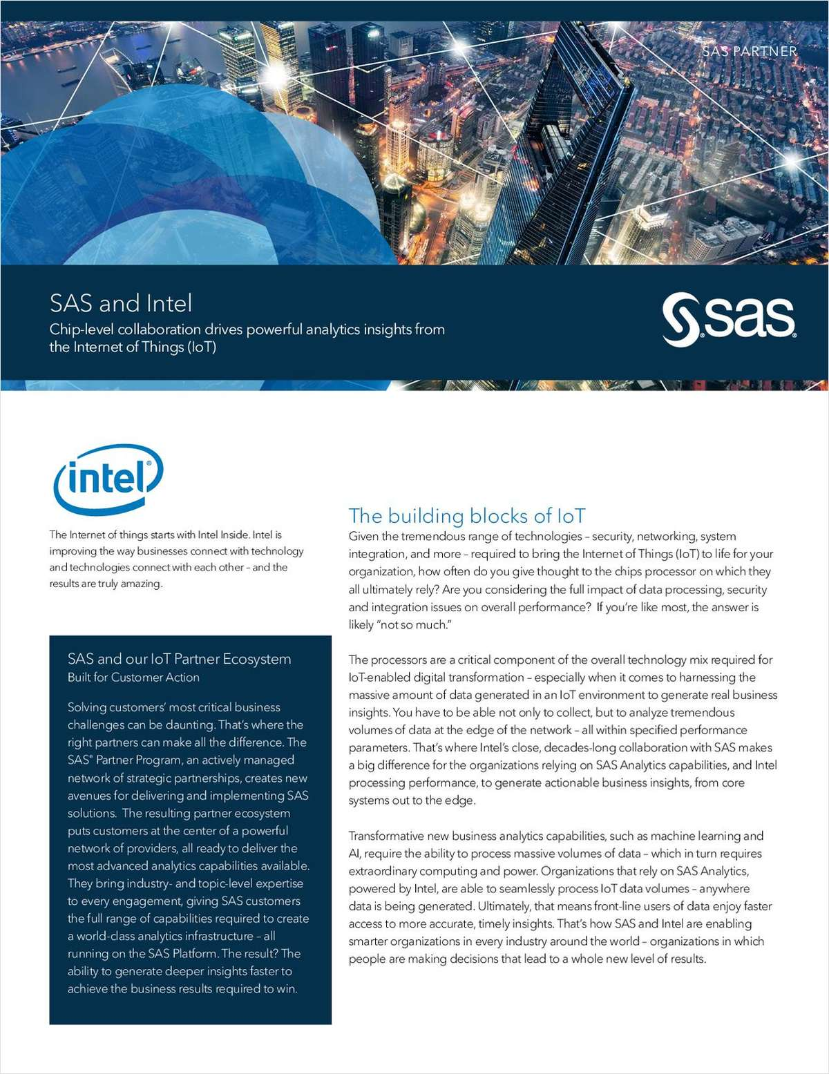 Chip-level collaboration drives powerful analytics insights from the Internet of Things (IoT)
