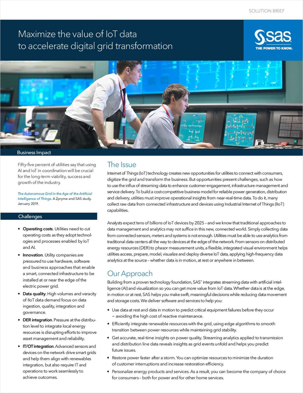 Maximize the value of IoT data to accelerate digital grid transformation
