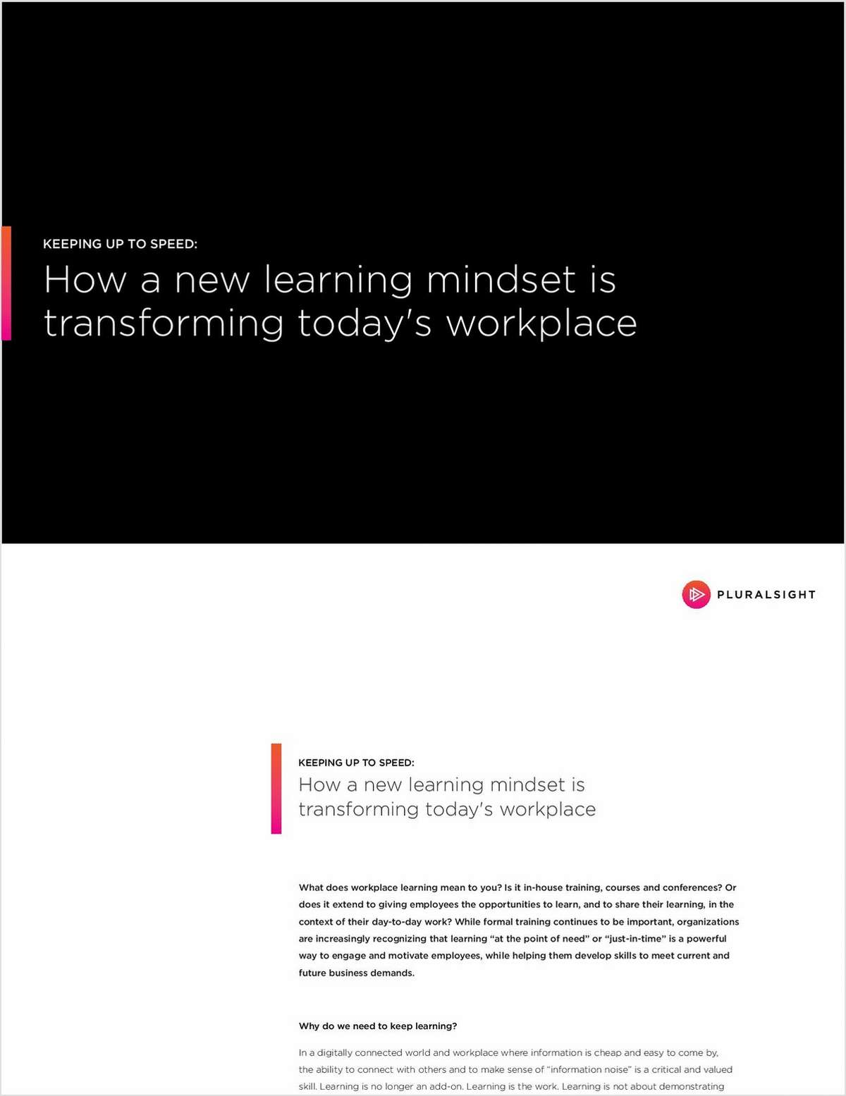 How a New Learning Mindset is Transforming Today's Workplace