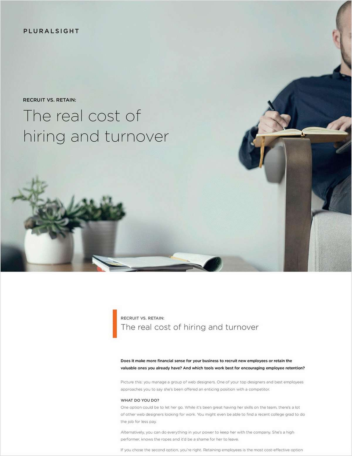 Recruit Vs Retain The Real Cost Of Hiring And Turnover Free White  # Muebles Himher S A