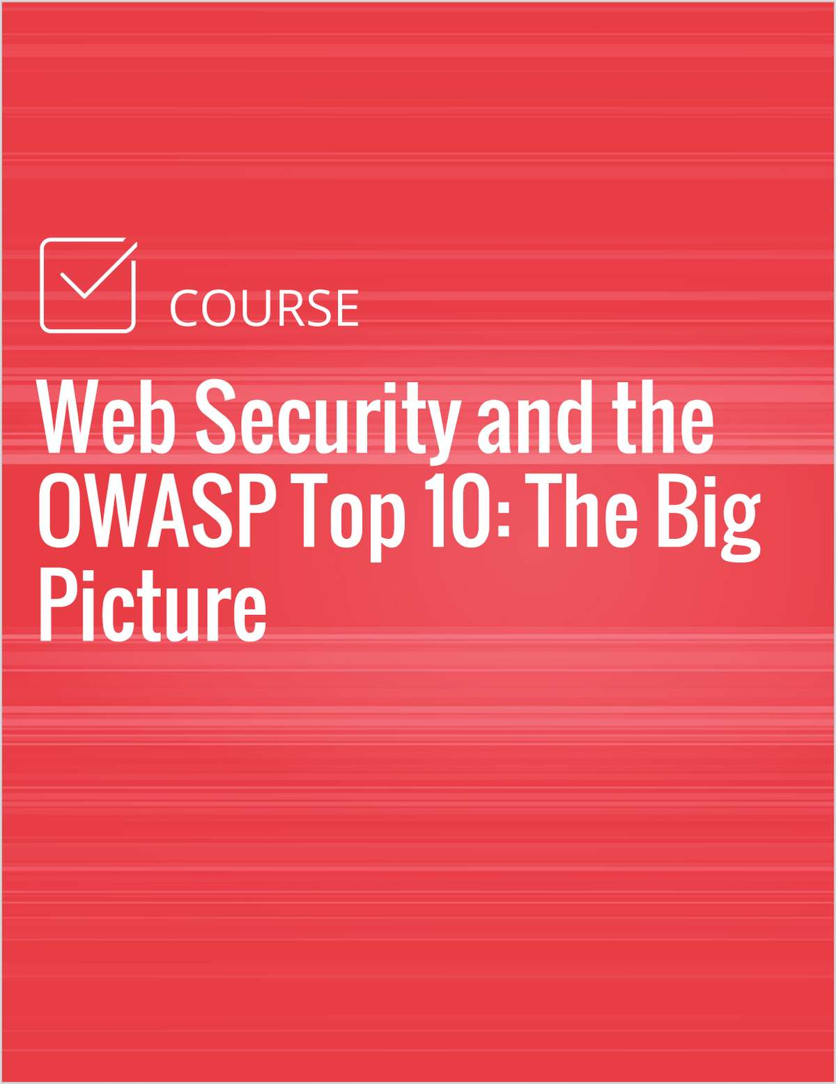 Web Security and the OWASP Top 10: The Big Picture
