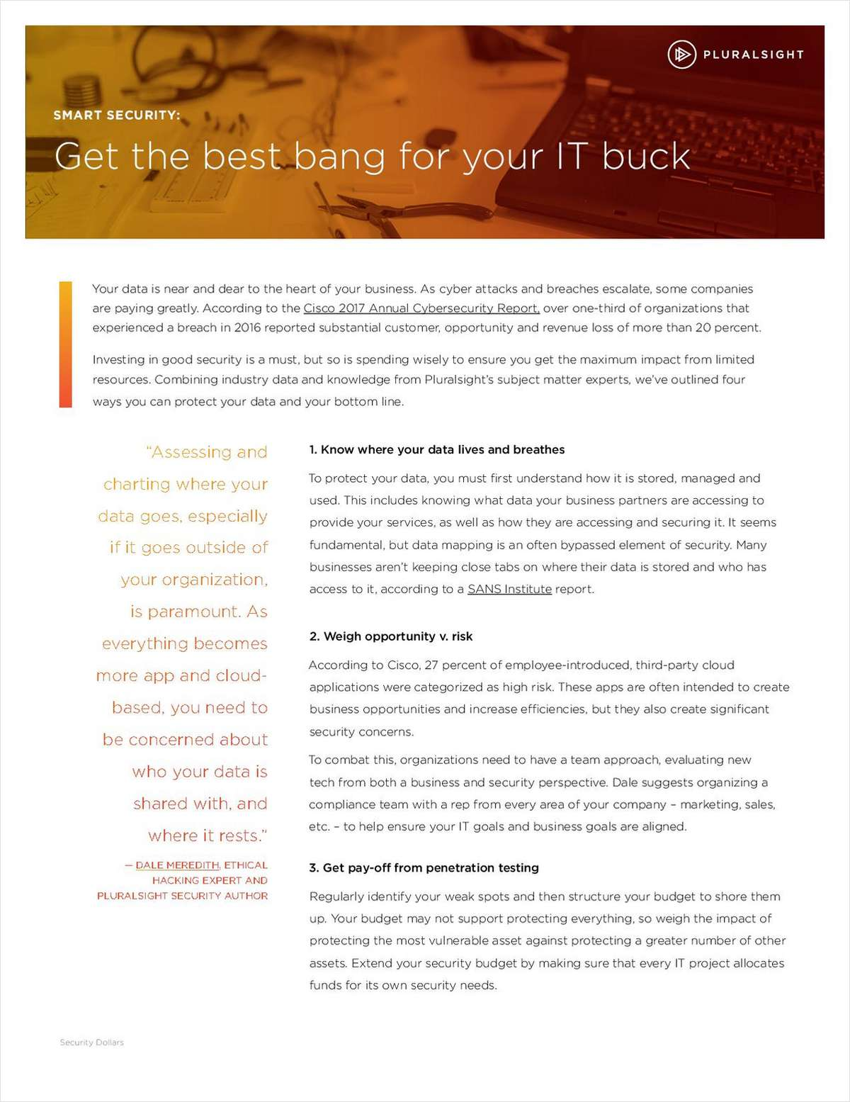Smart Security: Get the Best Bang for Your IT Buck