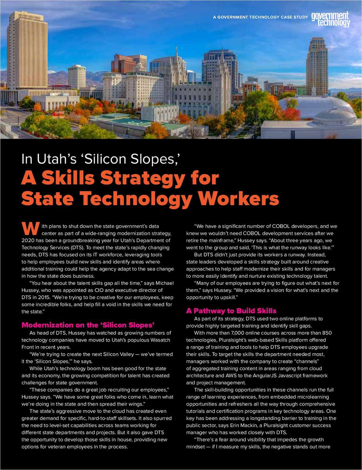 In Utah's 'Silicon Slopes': A Skills Strategy for State Technology Workers