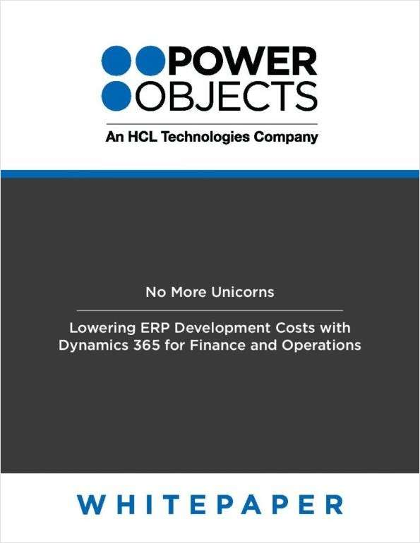 No More Unicorns - Lowering ERP Development Costs with Dynamics 365 for Finance and Operations