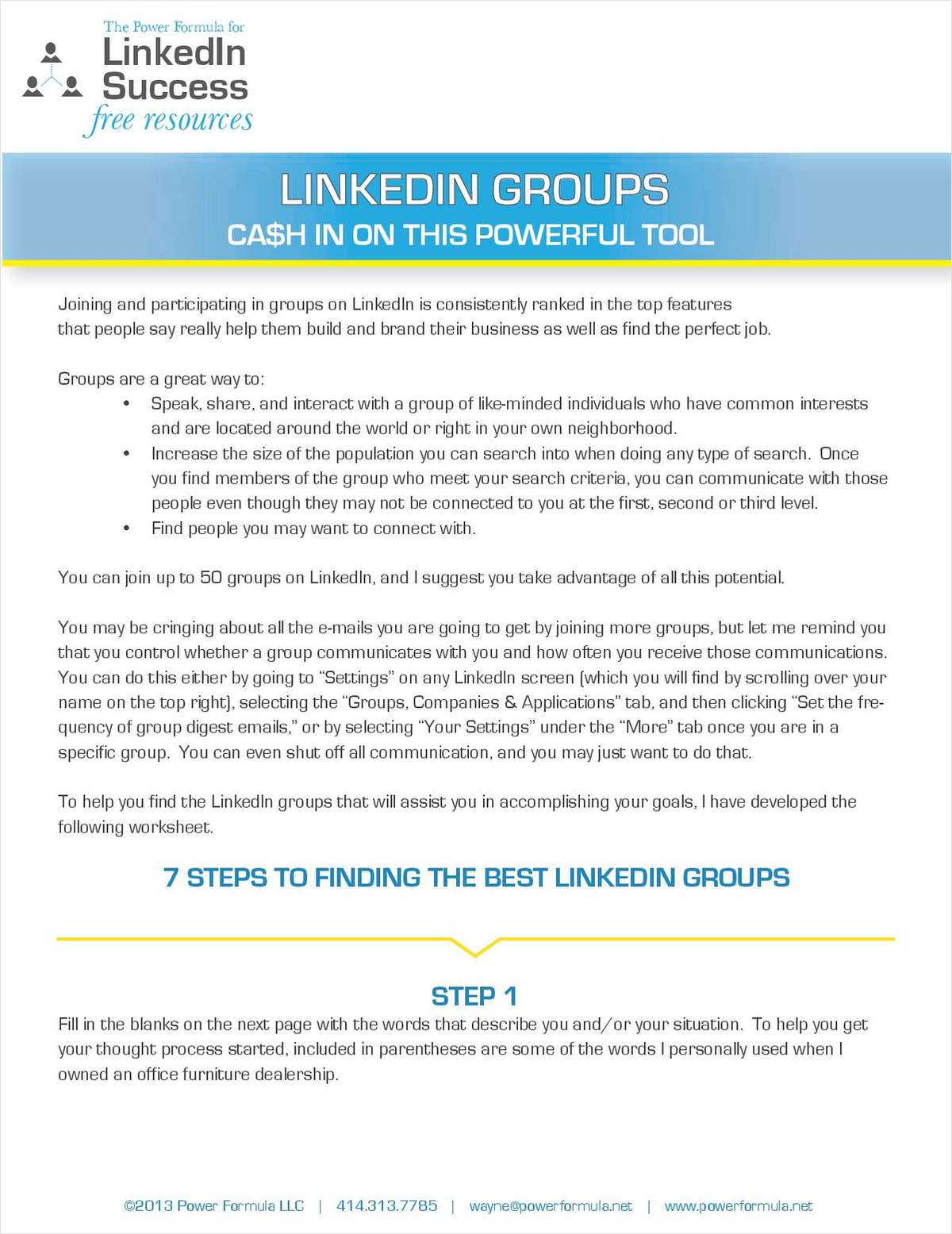 LinkedIn Groups: Cash in on this powerful tool