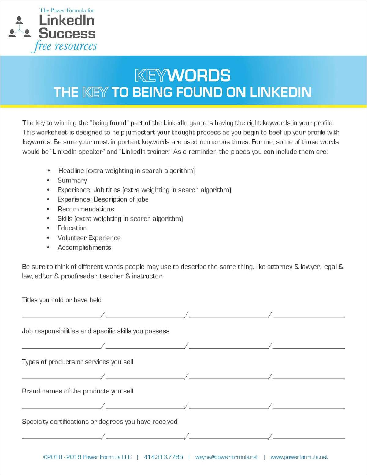 Keywords - The Key to Being Found on LinkedIn
