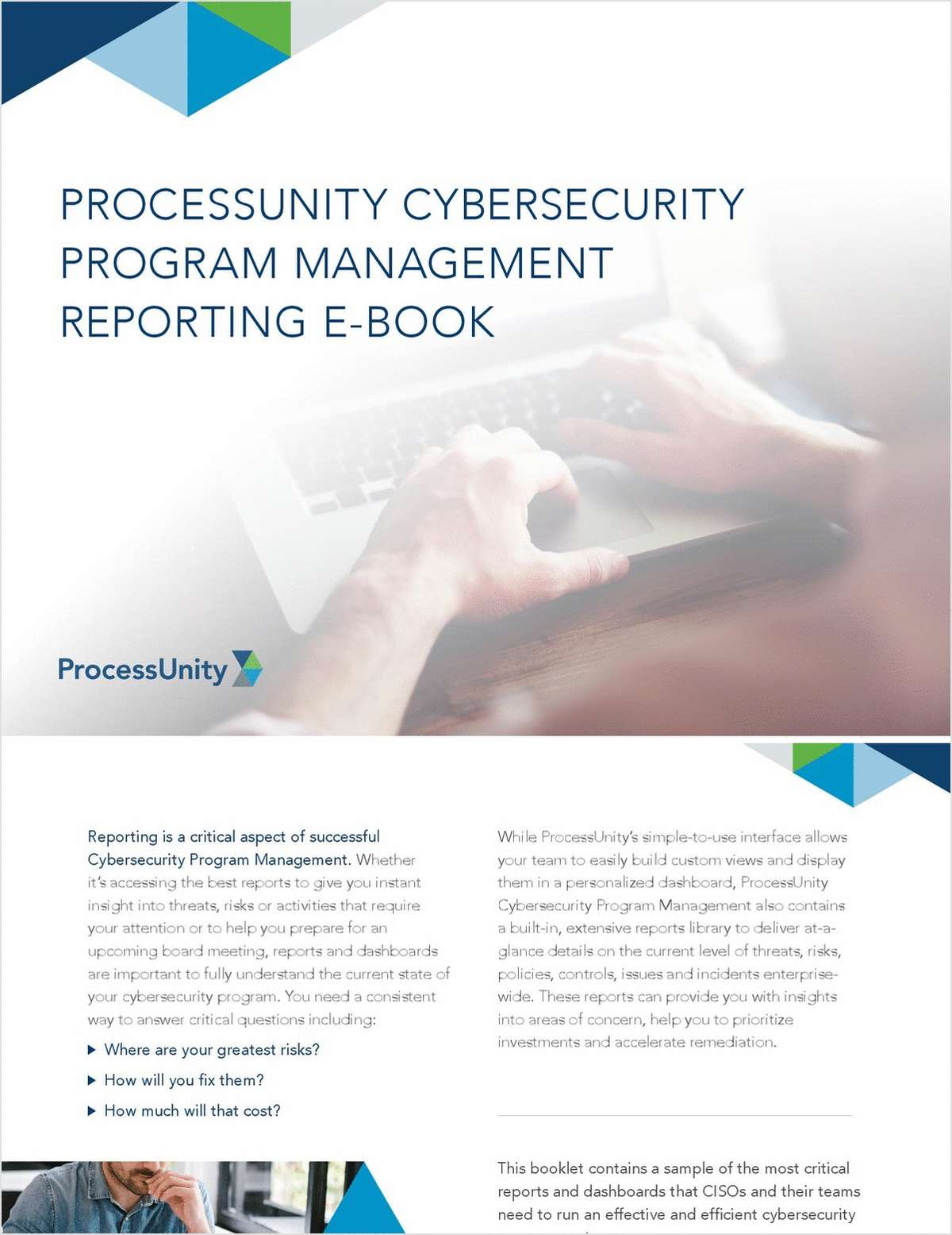 ProcessUnity Cybersecurity Program Management Reporting E-Book