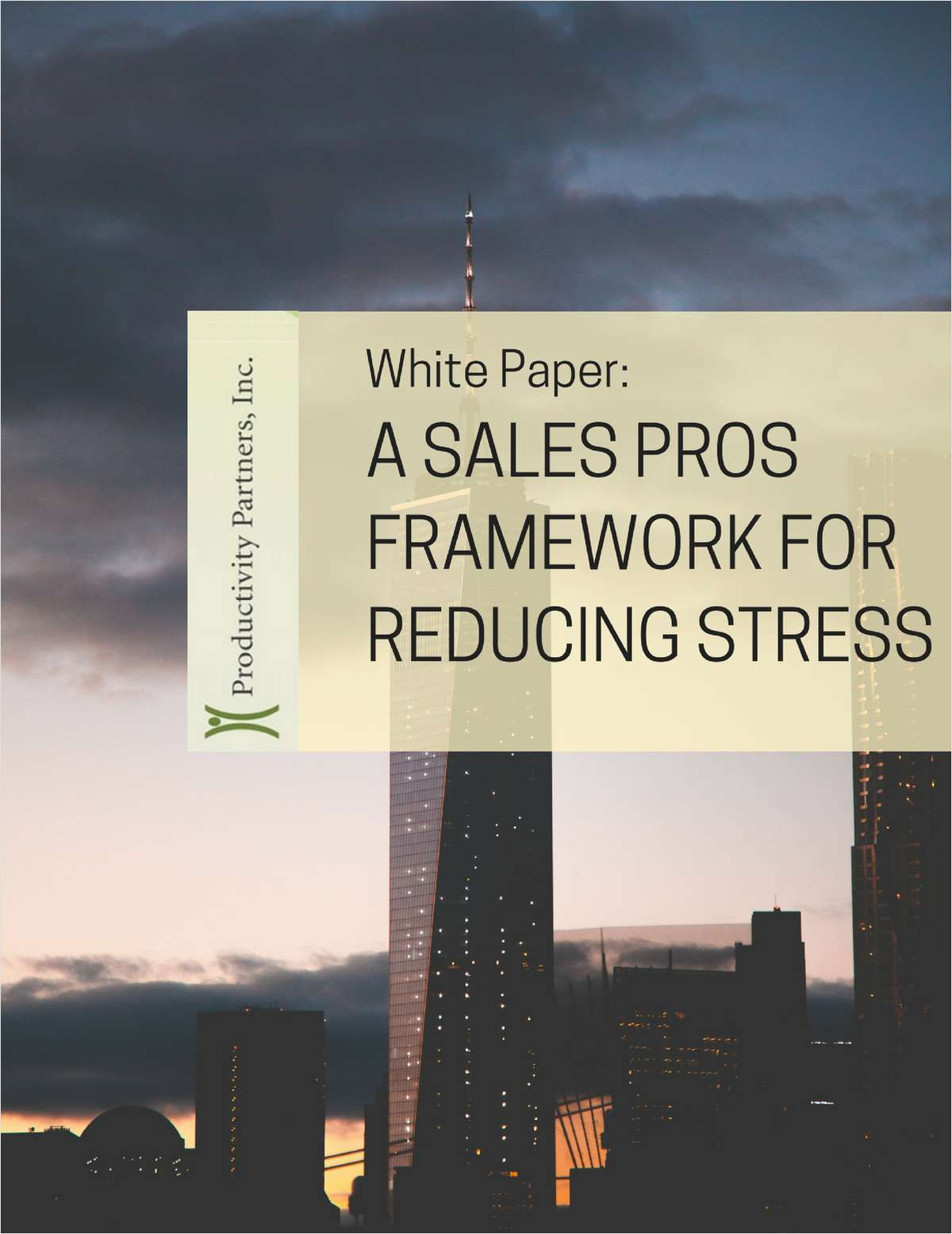 A Sales Pros Framework for Reducing Stress