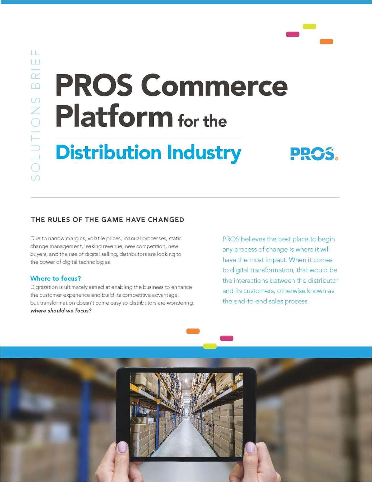 PROS Commerce Platform for the Distribution Industry