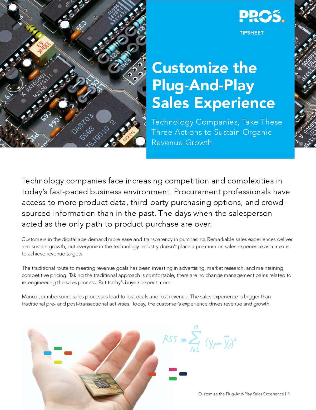 Customize The Plug-And-Play Sales Experience Technology Companies, Take These Three Actions to Sustain Organic Revenue Growth
