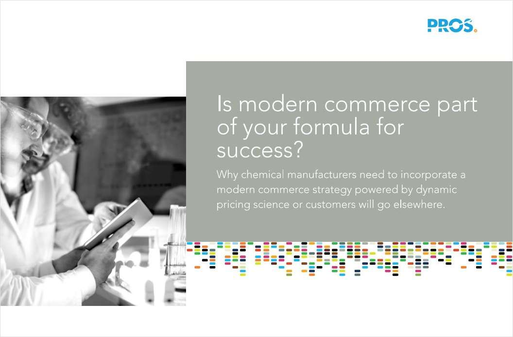 Chemical Manufacturers: Is Modern Commerce Part of Your Formula for Success?