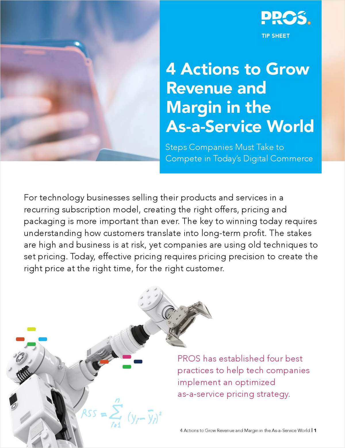 4 Actions to Grow Revenue and Margin in the As-a-Service World