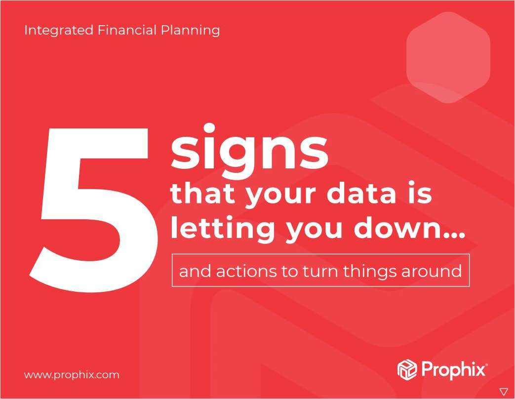 5 Signs That Your Data is Letting You Down