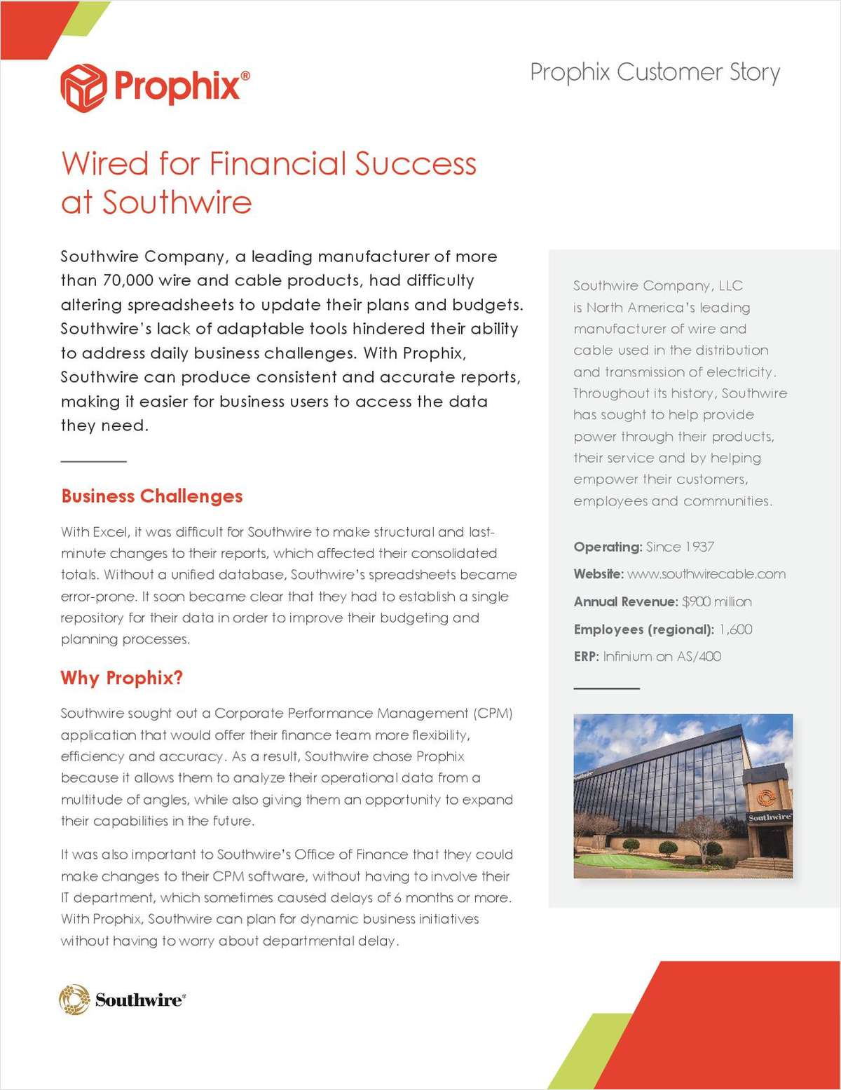 Wired for Financial Success at Southwire