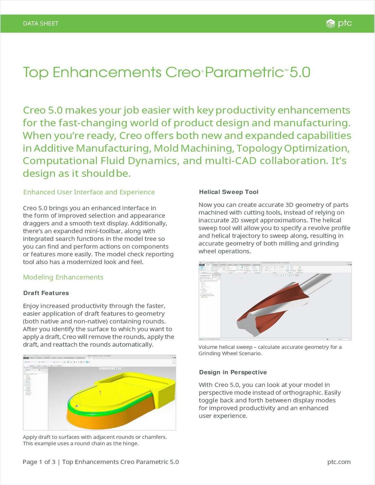 Top Enhancement in Creo Parametric 5.0
