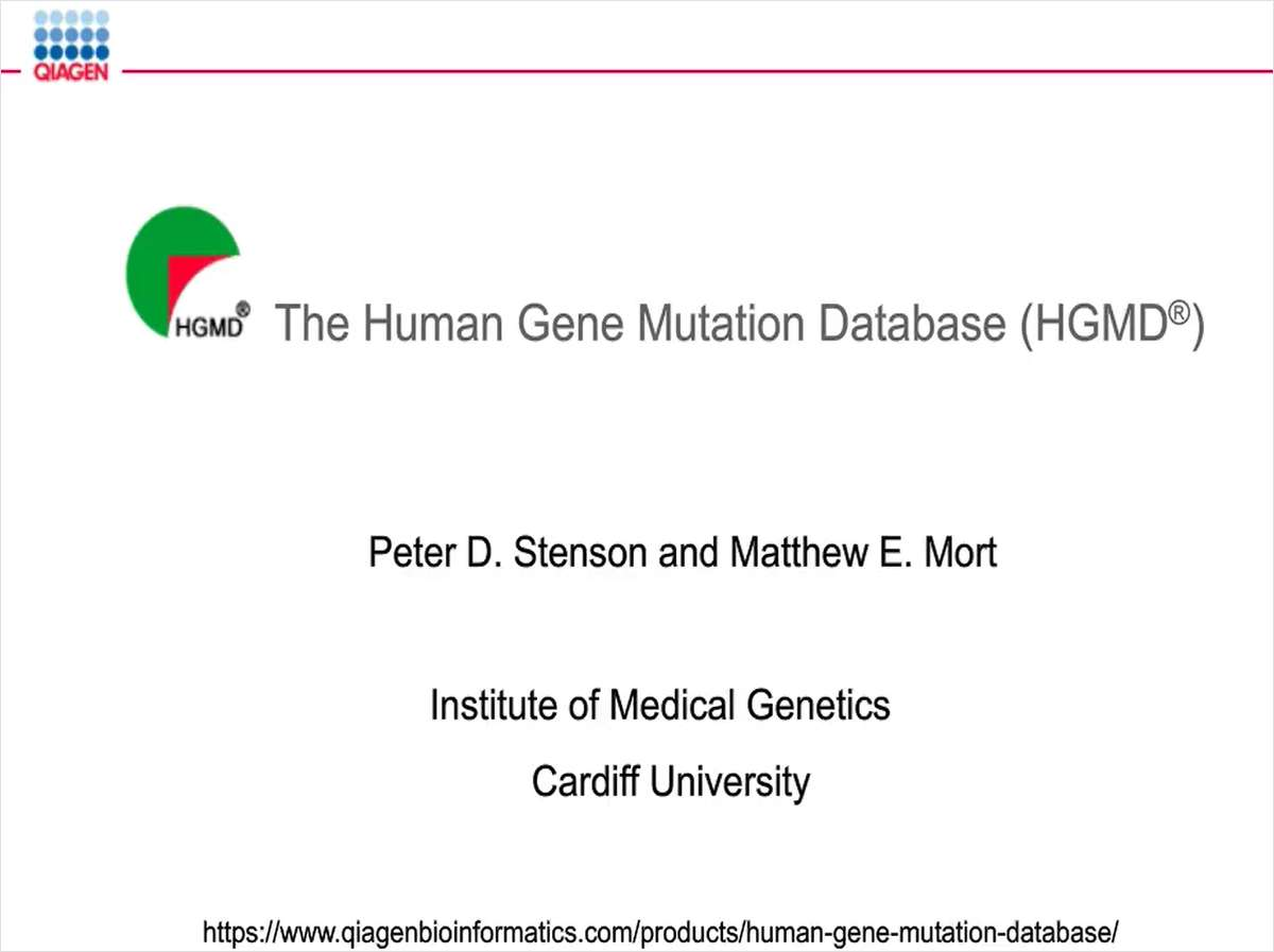 The Human Gene Mutation Database: Empowering a Generation of Geneticists for Precision Medicine