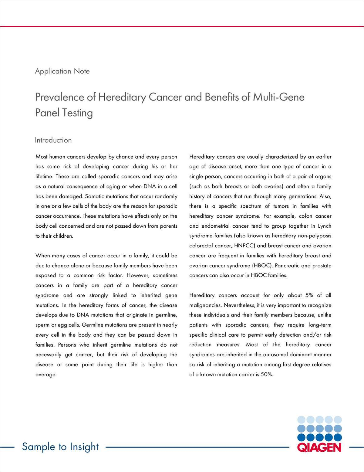 Prevalence of Hereditary Cancer and Benefits of Multi-Gene Panel Testing