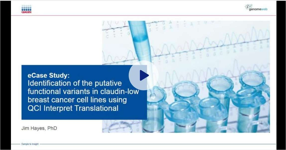 Identification of Putative Functional Variants in Claudin-Low Breast Cancer Cell Lines