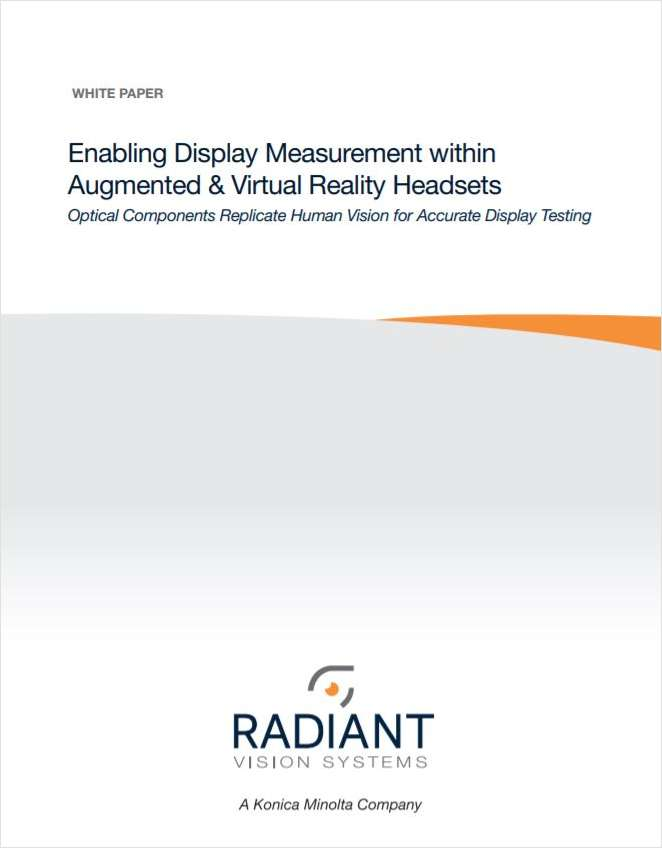 Enabling Display Measurement within Augmented & Virtual Reality Headsets