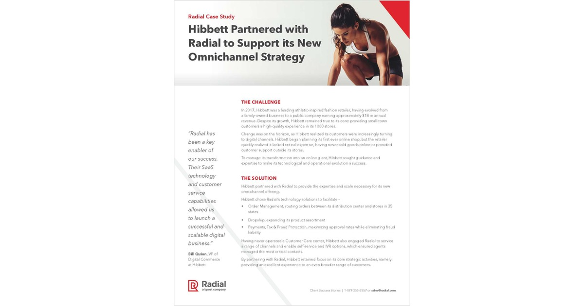 Hibbett Sports Launches New Omnichannel Strategy with Radial