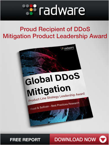 Proud Recipient of DDoS Mitigation Product Leadership Award