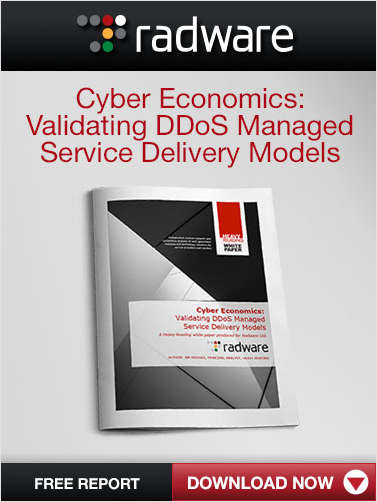Cyber Economics: Validating DDoS Managed Service Delivery Models