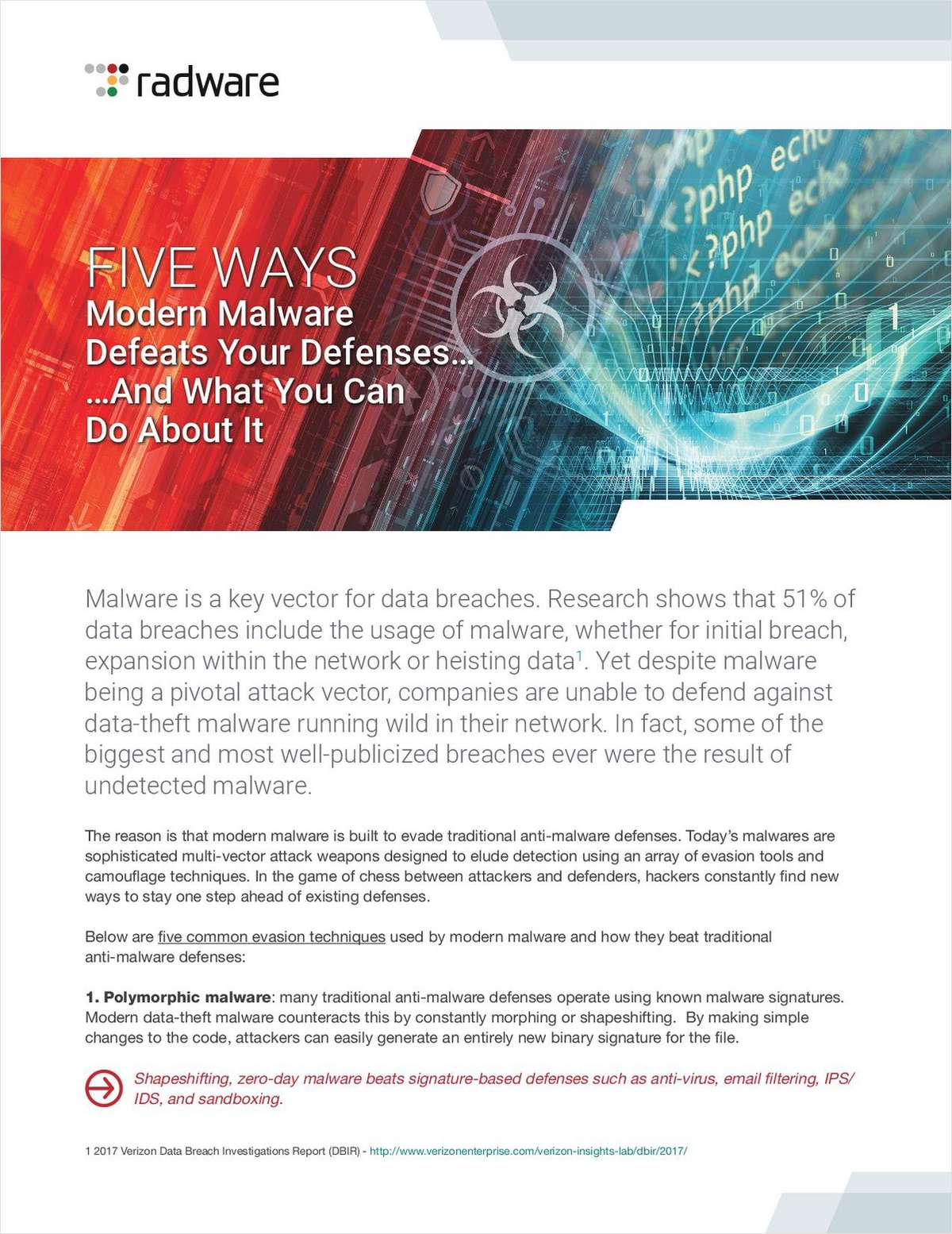 Five Ways Modern Malware Defeats Your Defenses...And What You Can Do About It
