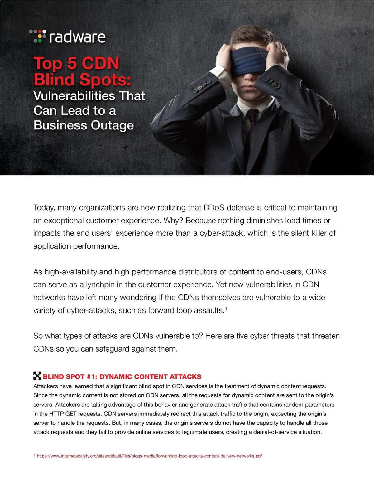 Top 5 CDN Blind Spots